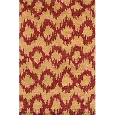 """Porch & Den Sherry Hand-knotted Geometric Moroccan Trellis Area Rug - 7'10"""" x 5'2"""""""