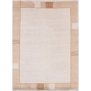 "Porch & Den Scrutton Ivory Hand-made Contemporary Oriental Area Rug - 7'10"" x 5'10"""