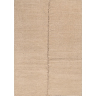 """Hand Made Traditional Indian Gabbeh Oriental Solid Area Rug - 9'4"""" x 6'8"""""""