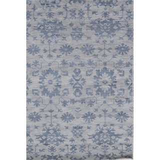 """Porch & Den Skyhigh Hand-knotted Floral Wool Moroccan Oushak Area Rug - 7'9"""" x 5'1"""""""