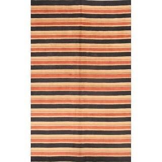 "Strick & Bolton Shona Striped Handmade Wool Area Rug - 9'11"" x 6'5"""