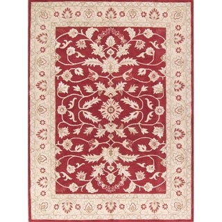 "Copper Grove Lapithos All-over Floral Oushak Agra Hand Tufted Wool Indian Oriental Area Rug - 11'5"" x 8'4"""