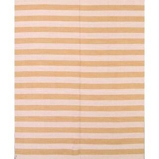 "Strick & Bolton CeCe Striped Handmade Reversible Area Rug - 8'3"" x 10'"