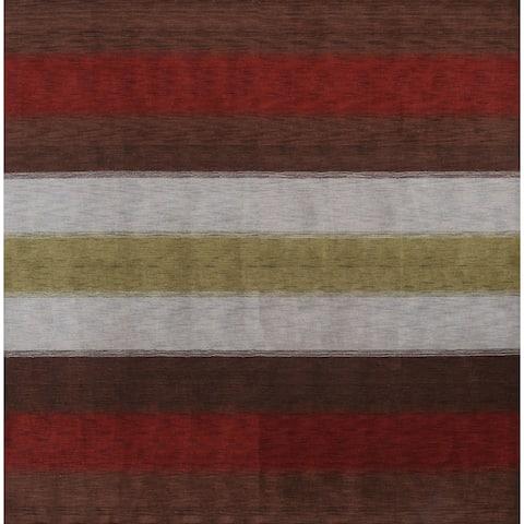 "Porch & Den Brooke Stripe Handmade Wool Oriental Area Rug - 9'10"" square"
