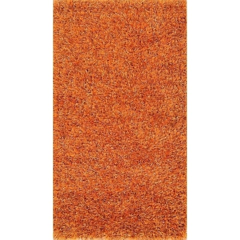 "Porch & Den Beckman Orange Hand-made Shaggy Classic Oriental Area Rug - 4'9"" x 2'7"""