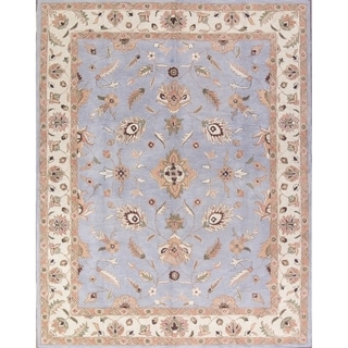 """Copper Grove Dragor Hand-Tufted Floral Light Blue Oriental Area Rug - 11'1"""" x 8'1"""""""