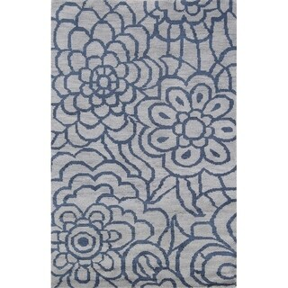 "Porch & Den Shadybrook Hand-knotted Floral Wool Moroccan Trellis Area Rug - 7'3"" x 5'1"""