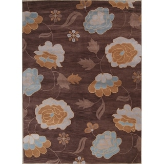 """Copper Grove Varde Hand-tufted Wool Traditional Oriental Area Rug Floral - 11'4"""" x 8'2"""""""