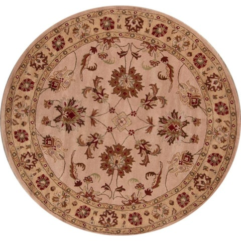 "Copper Grove Hillerod Hand-tufted Classical Indian Oriental Area Rug Floral - 9'9"" x 9'10"" round"