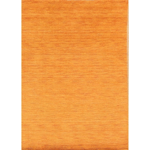 "Porch & Den Brandyshire Orange Solid Color Handmade Oriental Area Rug - 7'6"" x 5'1"""