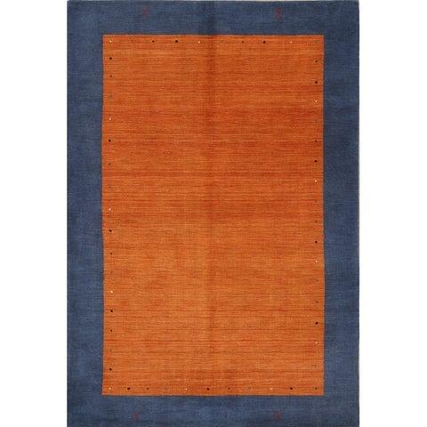 Porch & Den Barsotti Border Pattern Handmade Wool Area Rug - 9'9 x 6'8