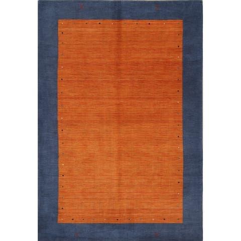 "Porch & Den Barsotti Border Pattern Handmade Wool Area Rug - 9'9"" x 6'8"""