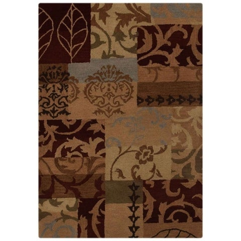 """Copper Grove Ringe Indian Traditional Patchwork Hand-tufted Oriental Area Rug - 13'1"""" x 9'11"""""""