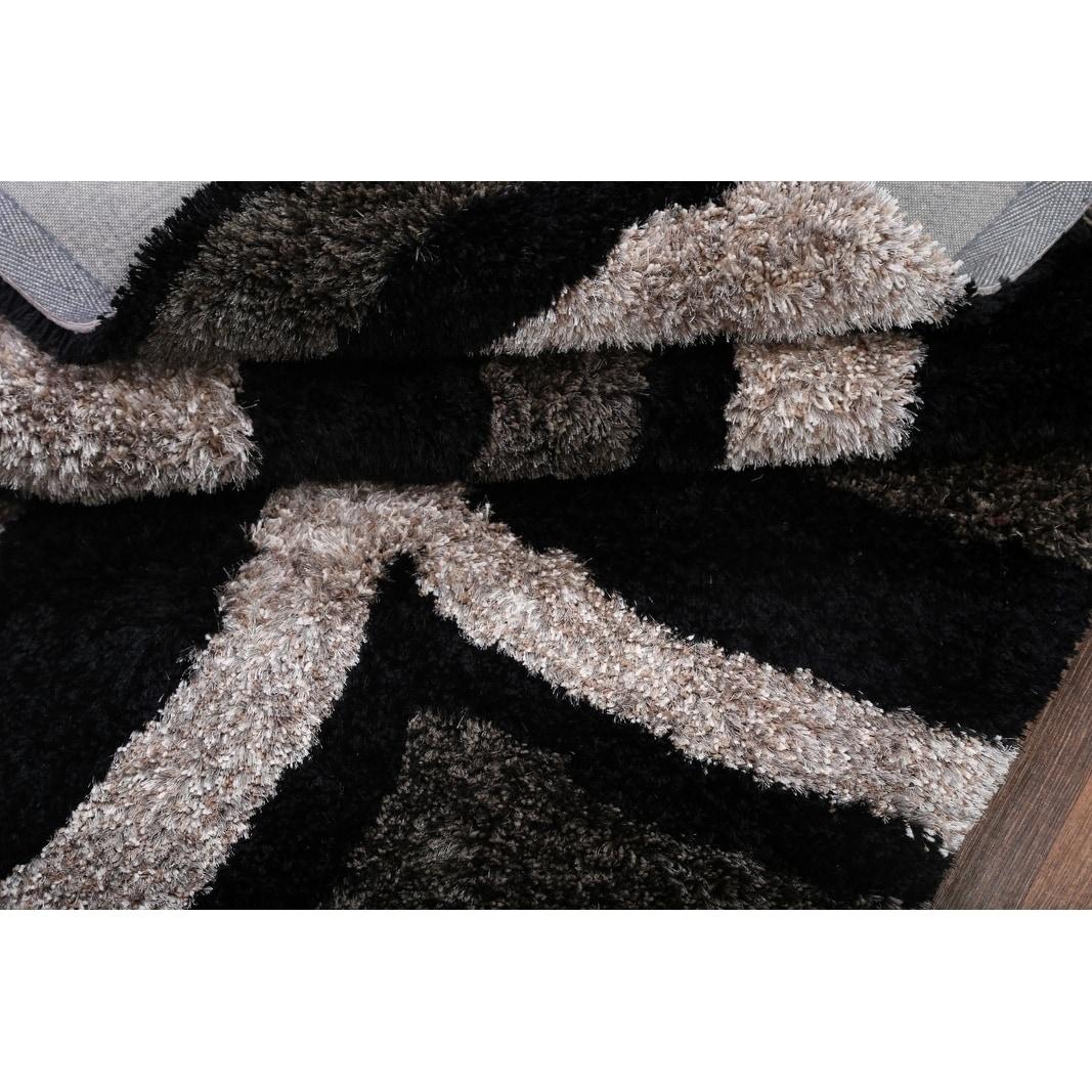 Modern Hand Tufted Shaggy Shag Oriental Area Rug 5 0 X 8 0 Overstock 25671593