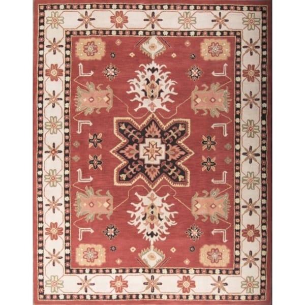 Shop Hand Tufted Wool Kazak Indian Oriental Area Rug Tribal Carpet