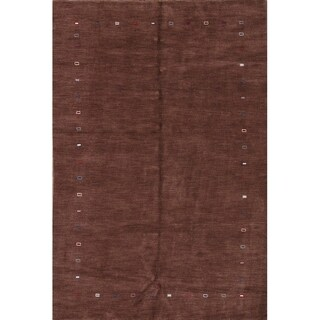 """The Curated Nomad Ermine Brown Hand-knotted Oriental Area Rug - 9'8"""" x 6'8"""""""