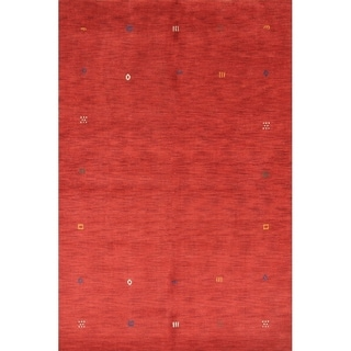 "Strick & Bolton Sinead Red Hand-knotted Wool Area Rug - 9'8"" x 6'7"""