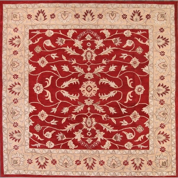 """Copper Grove Lapithos All-over Floral Square Kashan Traditional Agra Oriental Area Rug - 9'11"""" square"""
