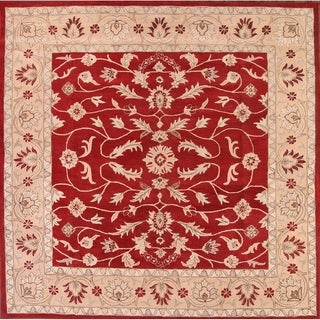 "Copper Grove Lapithos All-over Floral Square Kashan Traditional Agra Oriental Area Rug - 9'11"" square"