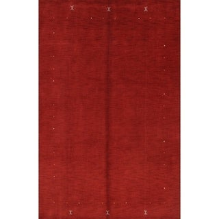 "The Curated Nomad Divisadero Red Handmade Wool Area Rug - 9'7"" x 6'4"""