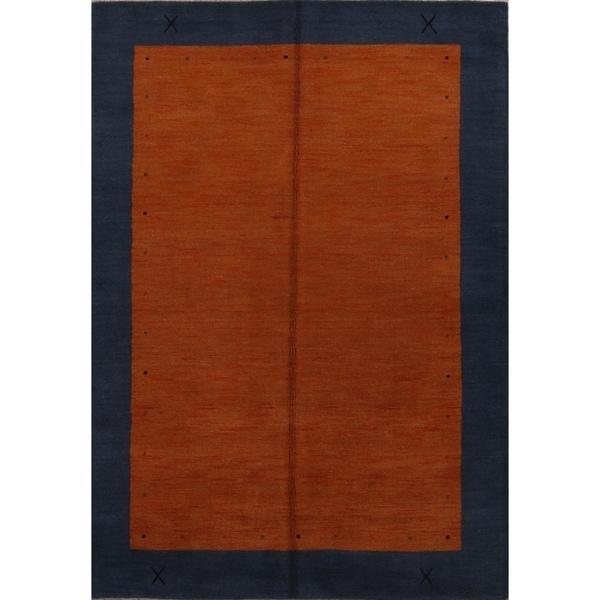 "Porch & Den Barsotti Border Pattern Handmade Wool Area Rug - 7'11"" x 5'6"""