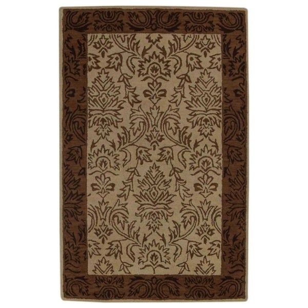 """Copper Grove Ebeltoft Hand-Tufted Hand Made Traditional Oriental Area Rug Floral - 11'3"""" x 8'1"""""""