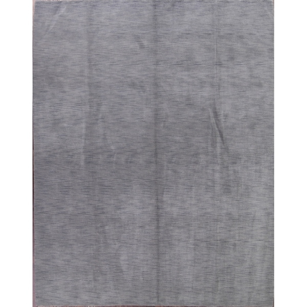 """Strick & Bolton Francesco Grey Hand-knotted Wool Area Rug - 12' x 9'3"""""""