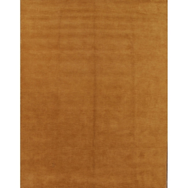Porch & Den Brandyshire Orange Solid Color Handmade Oriental Area Rug - 12' x 9'
