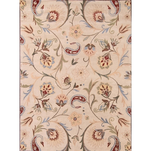 """Copper Grove Broager Oushak Indian Floral Hand-knotted Wool Area Rug - 11'4"""" x 8'0"""""""