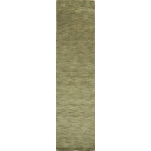 Strick & Bolton Francesco Hand-knotted Wool Oriental Runner Rug - 2'6 x 10'8