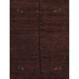 "Porch & Den Chanticleer Brown Hand-knotted Oriental Area Rug - 6'3"" x 4'9"""