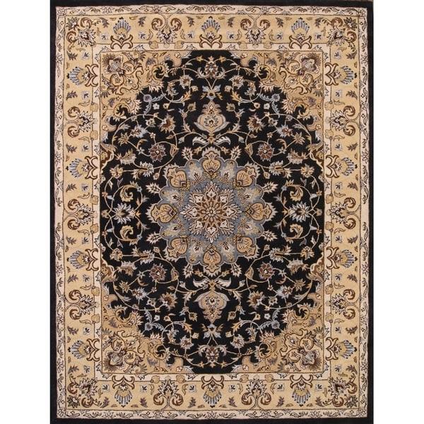 Shop Oushak Floral Tufted Wool Persian Oriental Area Rug: Shop Hand Tufted Wool Tabriz Agra Medallion Oriental Area