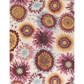"Porch & Den Aragon Hand-tufted Floral Wool Oushak Agra Oriental Area Rug - 8'3"" x 5'3"""