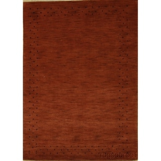 "Porch & Den Stohler Red Hand-knotted Gabbeh Classic Oriental Area Rug - 5'10"" x 4'1"""