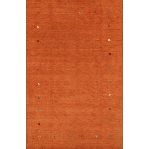 """Strick & Bolton Lira Hand-knotted Wool Area Rug - 9'9"""" x 6'4"""""""