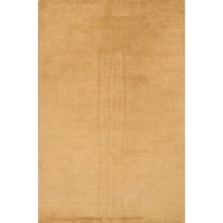 """Carson Carrington Abyn Hand-knotted Wool Solid Area Rug - 9'8"""" x 6'6"""""""