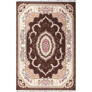 """Gracewood Hollow Zirimu Floral Persian Area Rug - 9'9"""" x 6'7"""""""