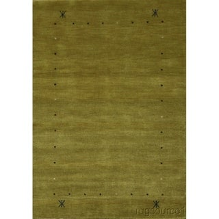 "Porch & Den Stephanie Gold Hand-knotted Gabbeh Tribal Oriental Area Rug - 5'11"" x 4'1"""