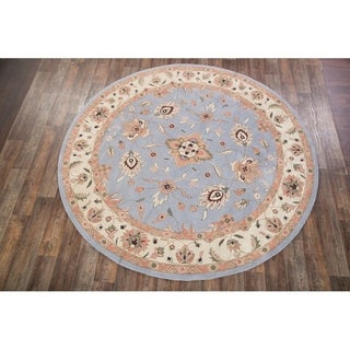 "Copper Grove Dragor Hand-tufted Woolen Floral Oriental Area Rug - 10'0"" round"
