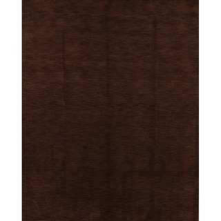 "Porch & Den Brandyshire Chocolate Brown Solid Color Handmade Oriental Area Rug - 9'10"" x 8'3"""