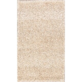 "Porch & Den Beckman Beige Hand-made Wool Shag Area Rug - 4'9"" x 2'7"""