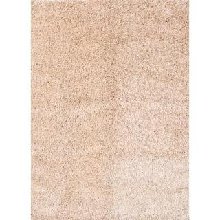 "Porch & Den Beckman Beige Hand-made Shaggy Wool Classic Area Rug - 7'7"" x 5'5"""