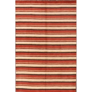 "Strick & Bolton Shona Striped Wool Area Rug - 9'8"" x 6'5"""