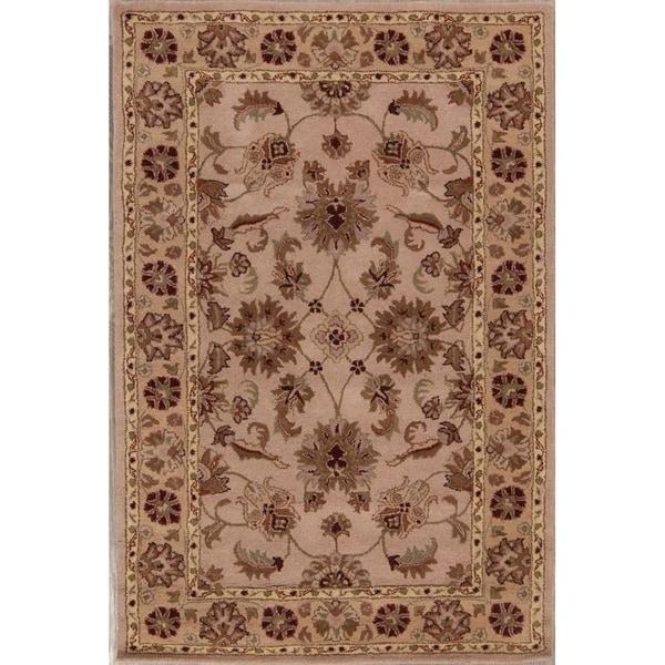 "Gracewood Hollow Kimenye Hand-tufted Floral Brown Wool Area Rug - 8'1"" x 5'3"""