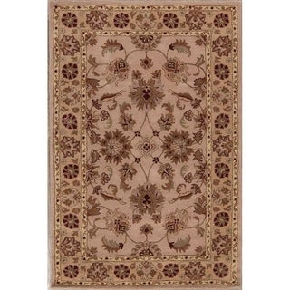 "Gracewood Hollow Kimenye Hand-tufted Floral Brown Wool Area Rug - 8'1"" x 5'3"""