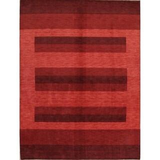 "Strick & Bolton Corbin Modern Striped Handmade Wool Area Rug - 12'1"" x 9'0"""