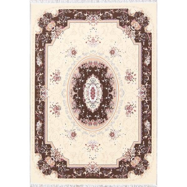 "Copper Grove Parnu Soft Plush Floral Tabriz Persian Acrylic Area Rug - 11'7"" x 8'1"""