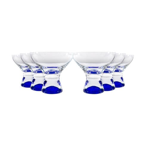 Samba Martini / Dessert Glass 11oz Set/6 Blue