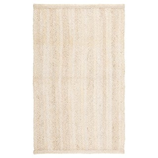 Shia Natural Solid Ivory/ Beige Area Rug - 2' x 3'