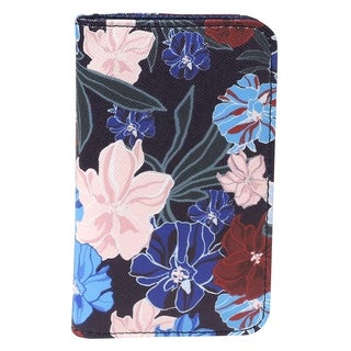 Seamless Floral RFID Snap Card Case